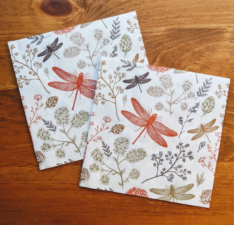 Napkin for Decoupage or Junk Journaling
