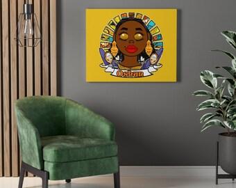 Oshun Oxum Osun African Goddess Orisha Yoruba Santeria Vodun Art Print Canvas Wall Art Decor