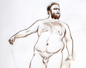 Nacktmännchen Fitness-Modell