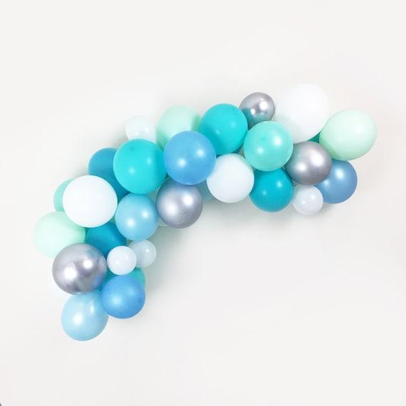 Turquoise Balloon Garland Kit W Hooks Teal Mint Aqua Blue Etsy