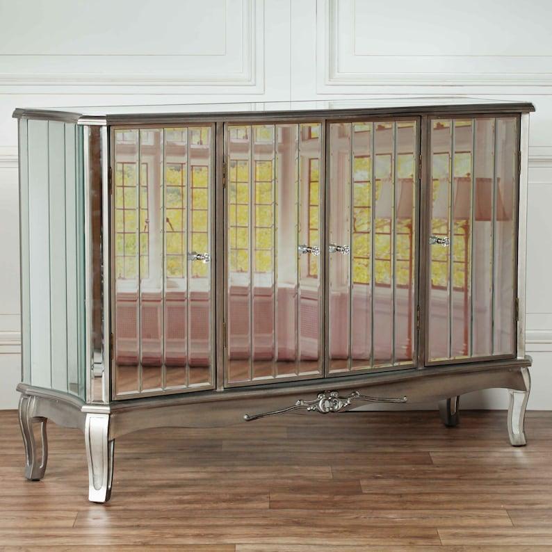 Venetian Silver Mirror Sideboard