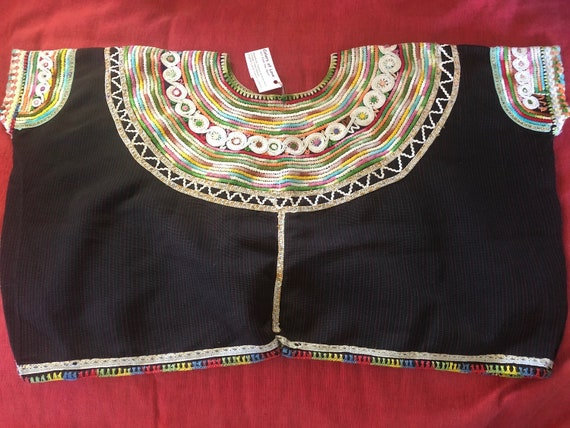 Divine Vintage tribal crop top,  artfully stitche… - image 3