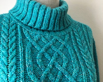 Teal green sweater | Etsy