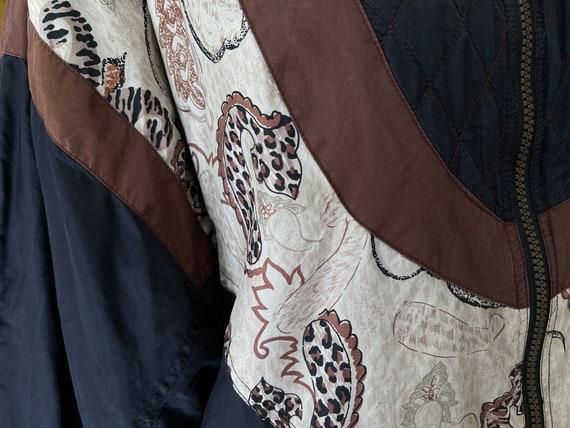 Vintage 80s silk bomber jacket - image 4