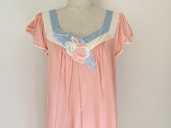 Vintage 1980s Vanity Fair 2 piece Nightgown Set