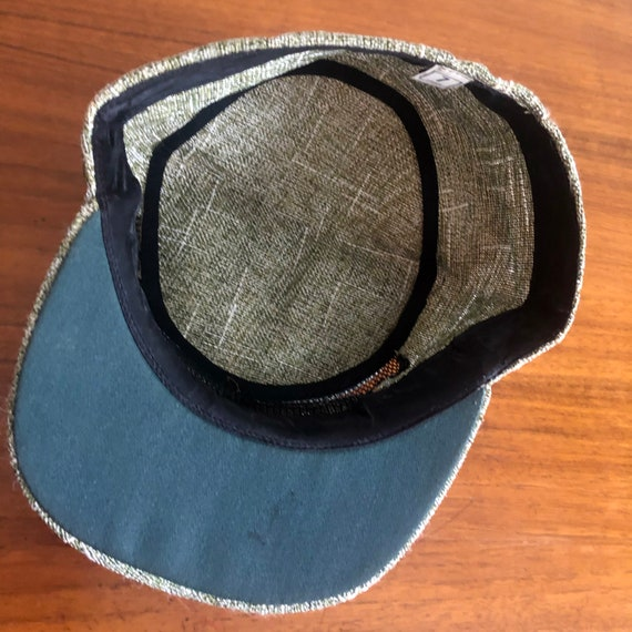 Vintage Olive Green Straw Baseball Hat Cap - image 8