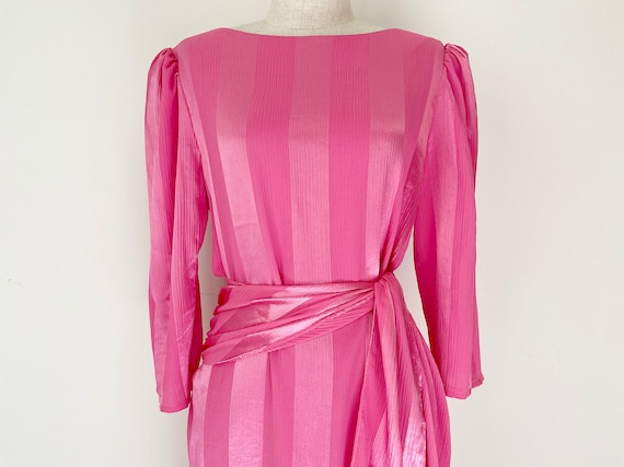 Candy Pink vintage 1980s Dress