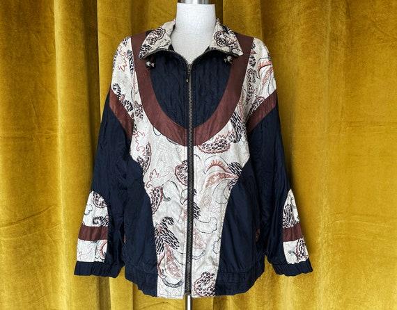 Vintage 80s silk bomber jacket - image 1