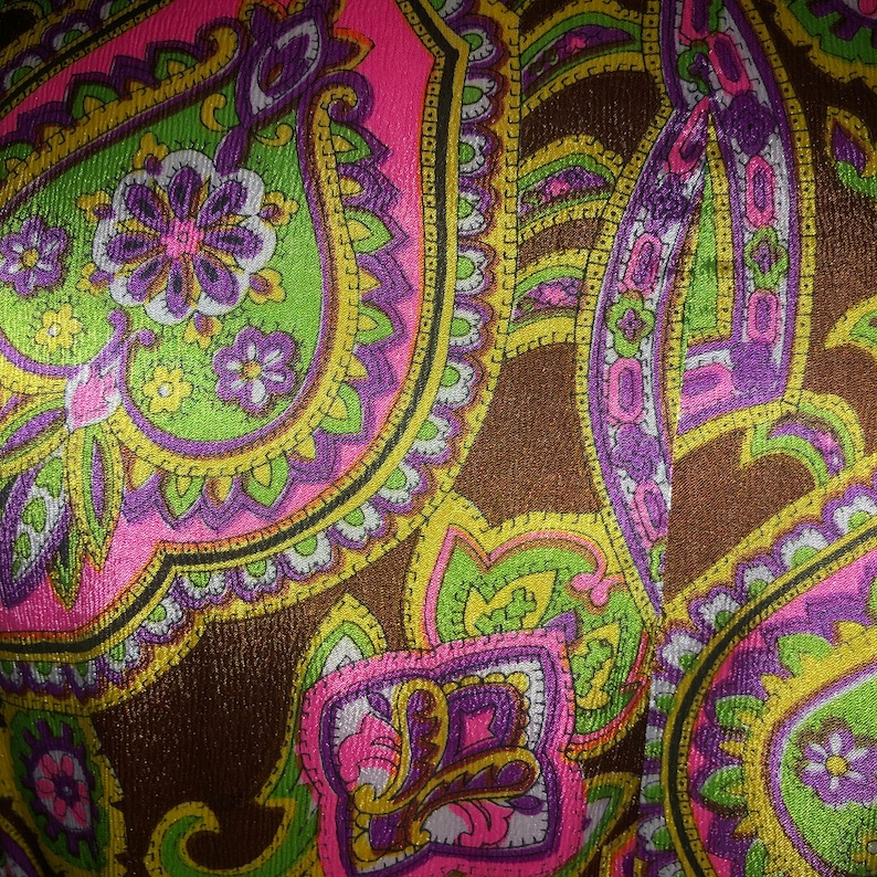 David Brown 70s Neon Paisley Robe