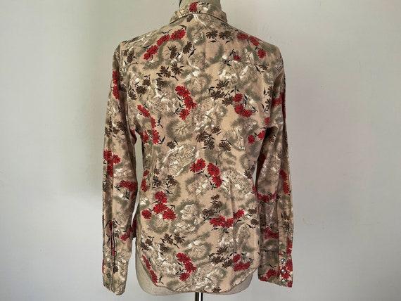 Vintage western H bar C button down floral shirt - image 4