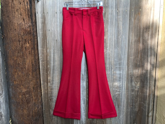 Vintage Red 1970s Wrangler Bellbottoms