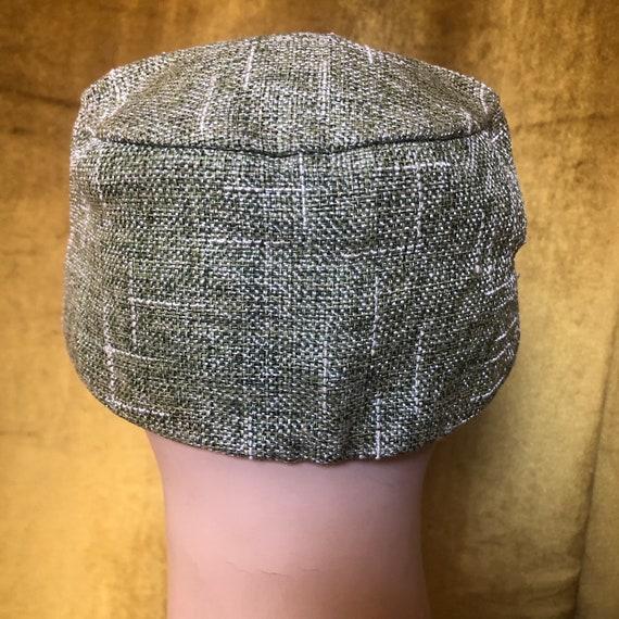 Vintage Olive Green Straw Baseball Hat Cap - image 6