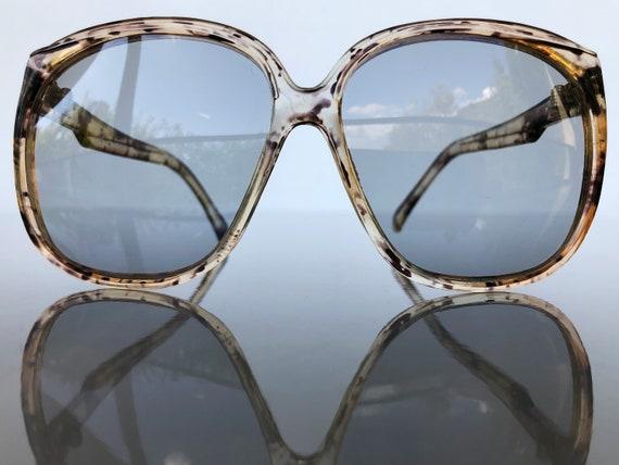 Vintage Oversized Plastic Frames Sunglasses 70s