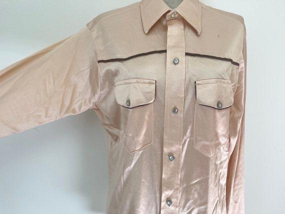 Vintage Western Shiny Peach Shirt