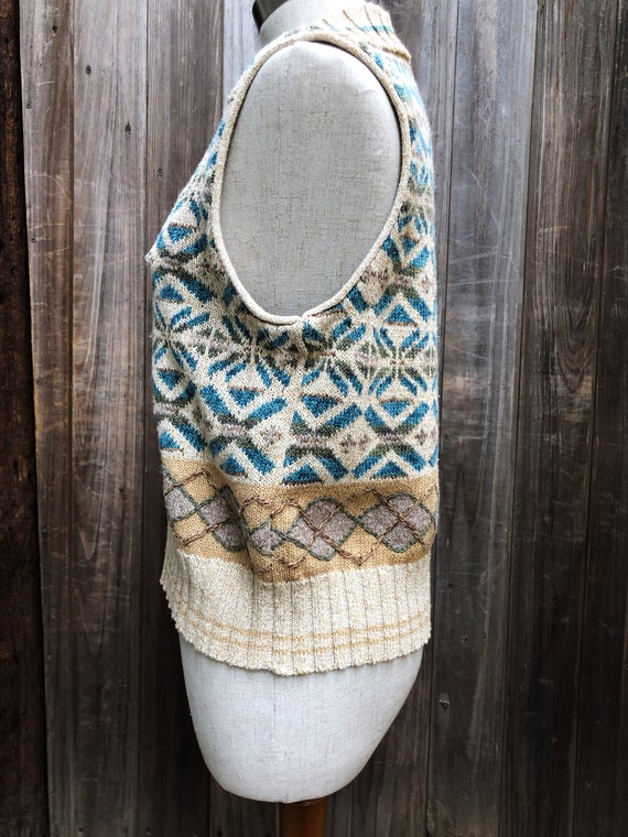 Vintage Hand Embroidered Sweater Vest - image 3