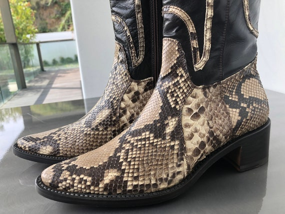 Vintage Rocco P Snakeskin Boots
