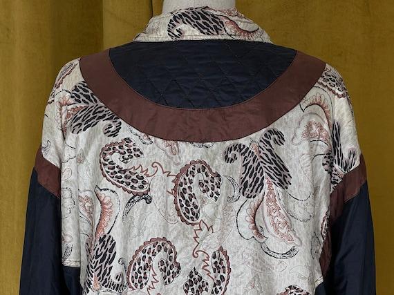 Vintage 80s silk bomber jacket - image 9