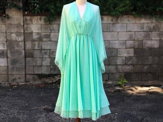 Victoria Royal Vintage Seafoam Green Silk Chiffon