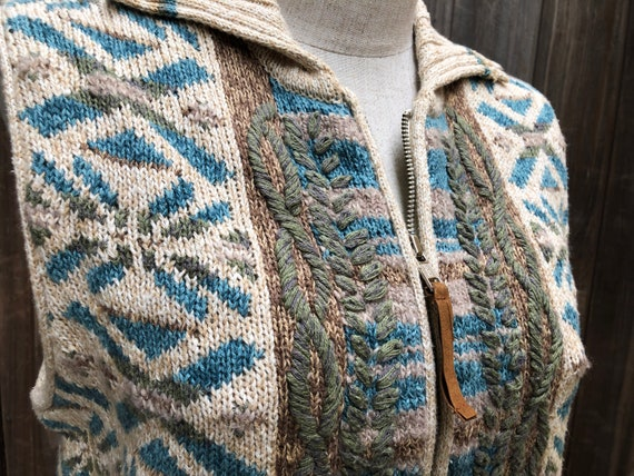 Vintage Hand Embroidered Sweater Vest - image 6