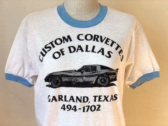 70s Vintage Corvette Ringer Tee T-Shirt