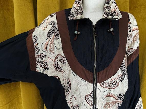 Vintage 80s silk bomber jacket - image 2