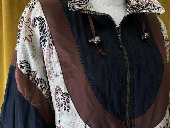 Vintage 80s silk bomber jacket - image 5