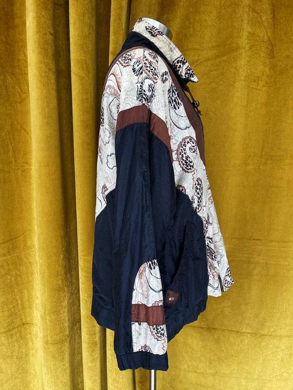Vintage 80s silk bomber jacket - image 6