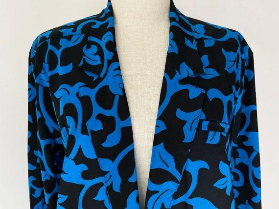 Vintage Black & Blue Vines Skirt-Pants 3-piece Se… - image 5