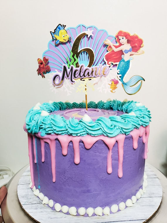 Stupendous The Little Mermaid Cake Topper Ariel Birthday Decor Etsy Funny Birthday Cards Online Alyptdamsfinfo