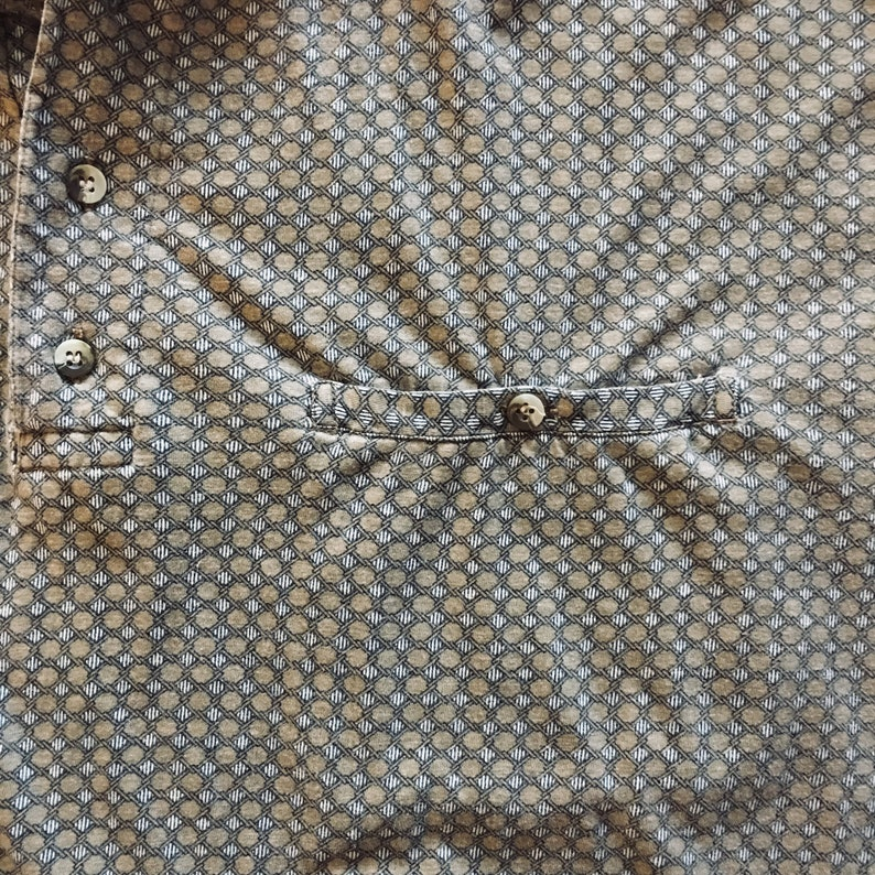 Vintage Beige Pattern Large Polo