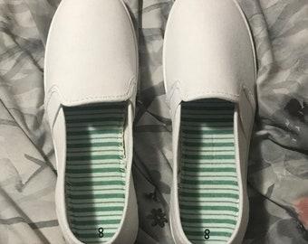 edf686c0f1 Custom Painted Canvas Shoes
