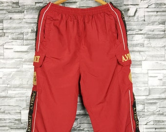 90's Adidas Pantaloni Vintage Sport Pants Nero Vento Pantaloni Retro Rompivento Atletico Running Pantaloni Pista Bottoms Taglia M