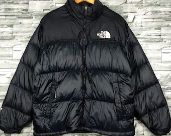 2db485892581 The North Face Down Jacket Large Vintage 90s TNF Goose Down Bombers Hoodie  Jacket Size L