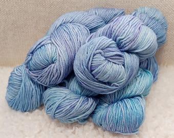 Malabrigo Rios, Aquamarine, Superwash Merino wool yarn, for knitting, crochet, weaving, crafts. Kettle dyed, Worsted Weight Yarn
