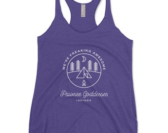 Pawnee Indiana Ladies Vest Tank Top Parks And Recreation Comedy