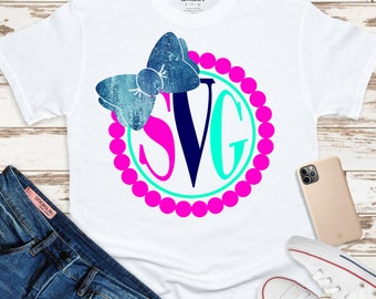 Pearl svg,monogram bow svg,monogram svg,pearls svg,sorority svg,girlie monogram svg,preppy svg,cut file,cricut svg,svg for mobile,mobile svg