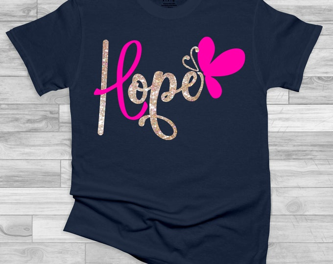 Featured listing image: hope butterfly svg, cancer svg, cancer svg, awareness svg, cancer ribbon svg,shirt svg,survivor svg, svg for cricut, silhouette cut file