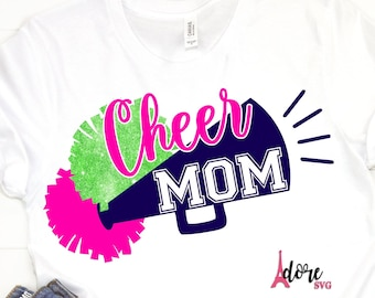 Cheer svg,Proud Cheer mom svg,Mom svg,cricut cut file,cheerleader svg,megaphone svg,pom pom svg,cheering svg,cheerleader pom pom
