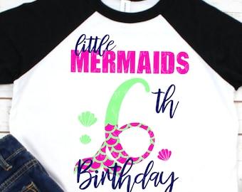 My 6th Birthday Mermaid Svg, Mermaid Birthday Svg, Mermaid Girl Svg, Cuttable Svg Designs, Cuttable Cut File, cricut svg