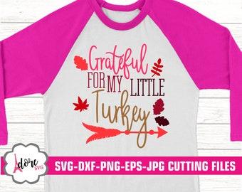 Thanksgiving svg, grateful, turkey svg, Little Turkey svg, svg, family svg, Printable, Digital Download, commercial use, svgs, dxf, eps