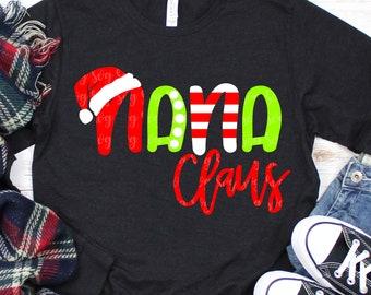 nana claus svg, christmas nana svg,nana svg, santa hat svg, christmas, svg, dxf, svg files,svg for Cricut,christmas svg,santa claus svg