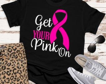 get your pink on ribbon svg, awareness SVG, breast cancer svg, cancer Svg Designs,cancer Cut Files,svg for cricut,svg for mobile