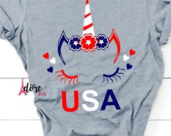 USA unicorn svg,unicorn svg,unicorn face svg,Independence Day svg,svg unicorn,svg for cricut,unicorn face svg,unicorn shirt,girlie unicorn