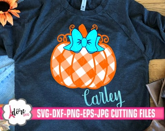 plaid pumpkin svg, autumn svg, Fall SVG, gingham plaid svg, monogram pumpkin svg, Thanksgiving svg,svg for cricut,commercial use,svg,dxf,eps