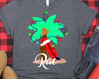 Santa svg, palm tree svg, beach santa, Christmas svg, Santa hat svg,SVG, DXF, EPS, iron on, pajamas svg, Svg for Cricut, Svg for Silhouette