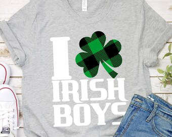 i love irish boys Svg, st patricks day svg, st pattys day SVG,File for Cutting Machines Cameo Cricut, svg for Cricut,irish svg,plaid svg