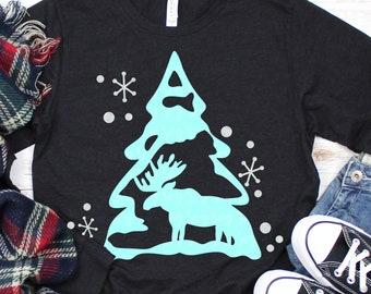 moose svg,christmas tree svg, Christmas svg, moose svg,snow svg,DXF, EPS, Christmas saying svg,svg for cricut,southern Christmas svg