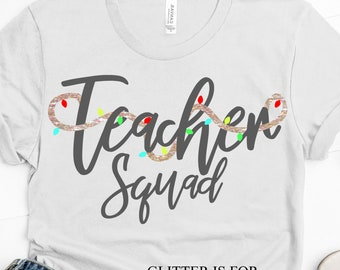 teacher squad svg, Christmas squad svg, png, dxf, eps, Christmas svg,Christmas squad,squad svg,sublimation, svg for cricut,silhouette design