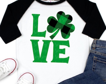 shamrock love plaid Svg, st patricks day svg, st pattys day SVG,File for Cutting Machines Cameo Cricut, svg for Cricut,irish svg,plaid svg