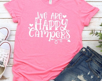 we are happy campers svg, campfire svg, Camping Svg, Traveling Svg, Camper Svg, Camping svg designs, Cricut cut file